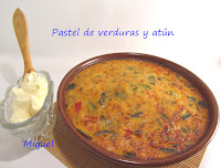 Pastel de verduras y atún