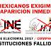 """Exigen la desaparición del """"INE y el IEEM"""" tras el fraude electoral del Edomex. ¿Estás de Acuerdo o No?"""