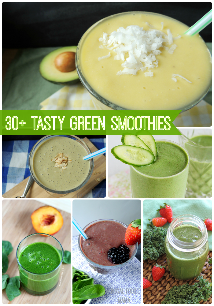 I have gathered up over 30 of the best, most delicious, healthiest green smoothie recipes from some of my favorite food bloggers for you all.