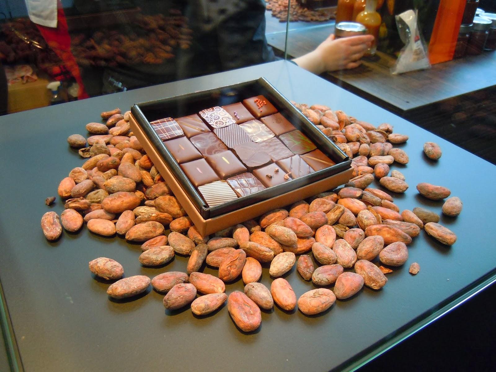 Chocolats Benoit Nihant et fèves