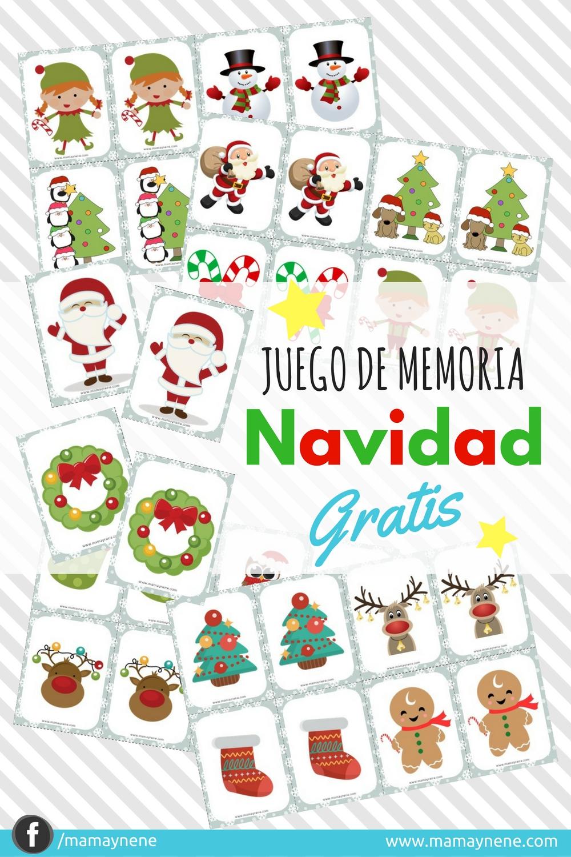 JUEGOS-MEMORIA-NAVIDAD-FAMILIA-NINOS-MAMAYNENE-IMPRIMIBLES-GAME-MEMORY