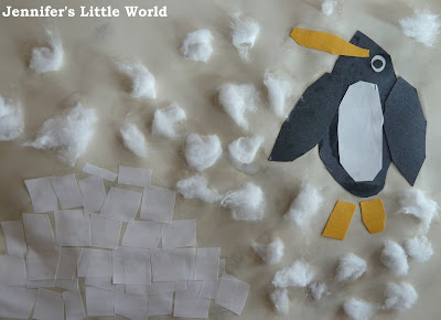 Mixed medium penguin craft for children