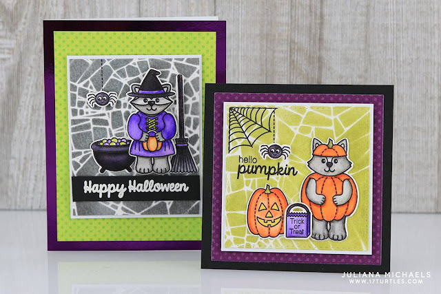 Sunny Studio Stamps: Halloween Cuties Cards by Juliana Michaels