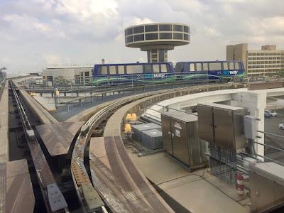 Houston skyway tracks between terminals