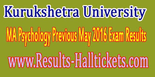 Kurukshetra University MA Psychology Previous May 2016 Exam Results