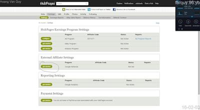 Hướng dẫn đăng ký Google Adsense thông qua Hubpages