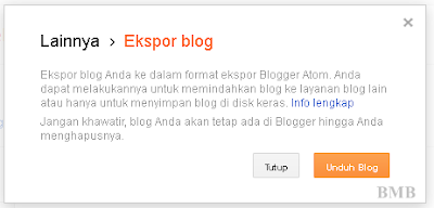 backup blog - ekspor backup blog