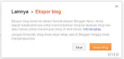 backup blog - ekspor backup blog