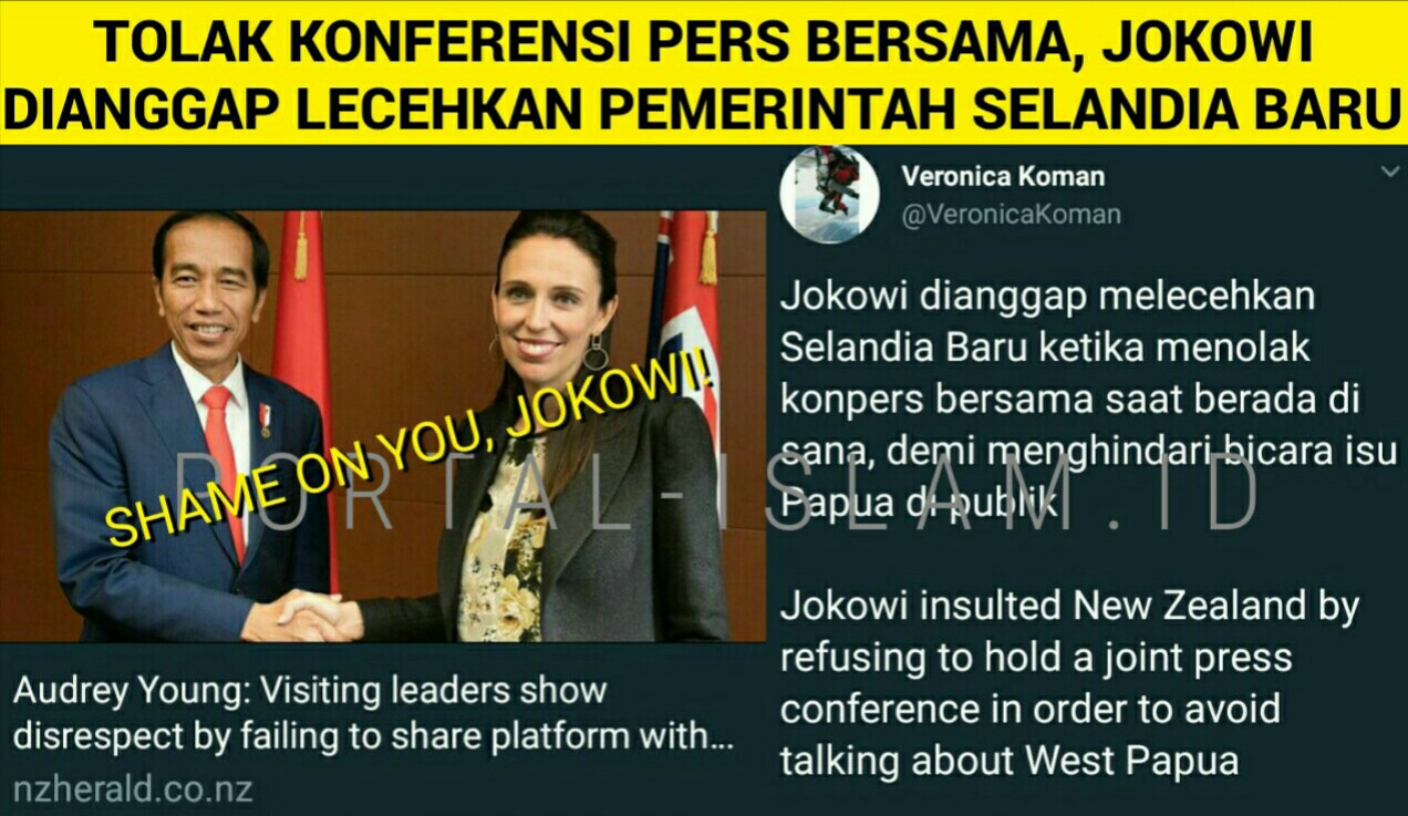 Muslim Selandia Baru Image: GEGER! New Zealand Herald KECAM Jokowi Yang Dianggap