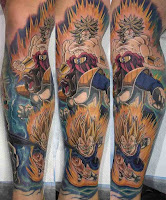 tatuaje pierna dragon ball