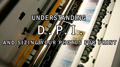 the title image for a blog post about dpi or dots per inch, all about how to size your digital photos for printing and understanding resolution by Chris Gardiner. www.cgardiner.ca
