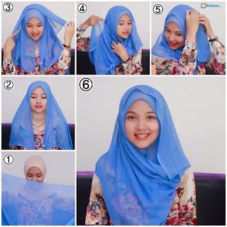 Tutorial Cara Memakai Hijab Segi Empat