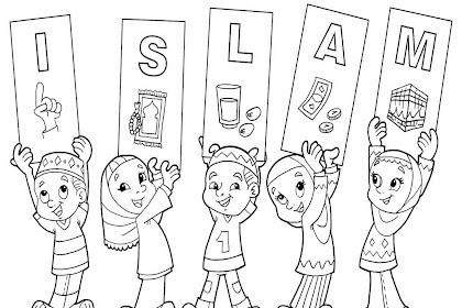 Gambar Mewarnai Islami Untuk Tk