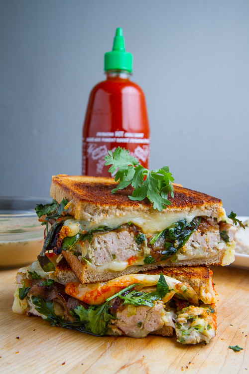 Thai Green Curry Turkey and Zucchini Meatloaf Grilled Cheese