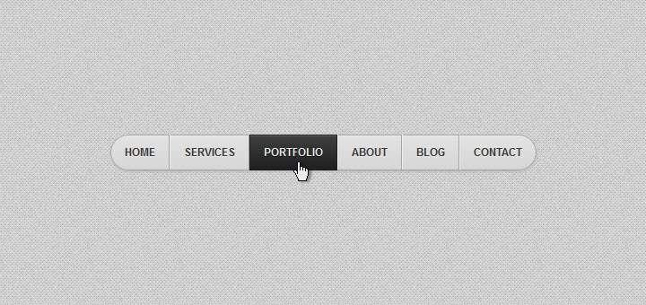 HTML5/CSS3 Gray Navigation Menu