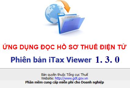 ứng dụng đọc hồ sơ thuế itaxviewer 1.3.0