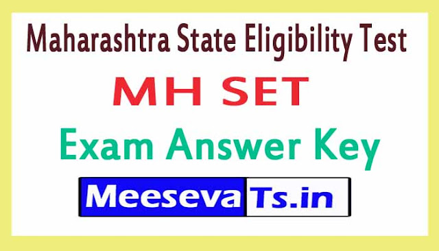 Maharashtra State Eligibility Test MH SET Exam Answer Key 2018