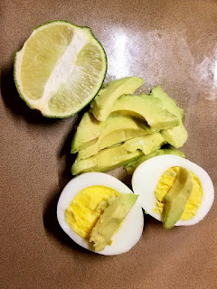 boiled eggs, avocados, healthy