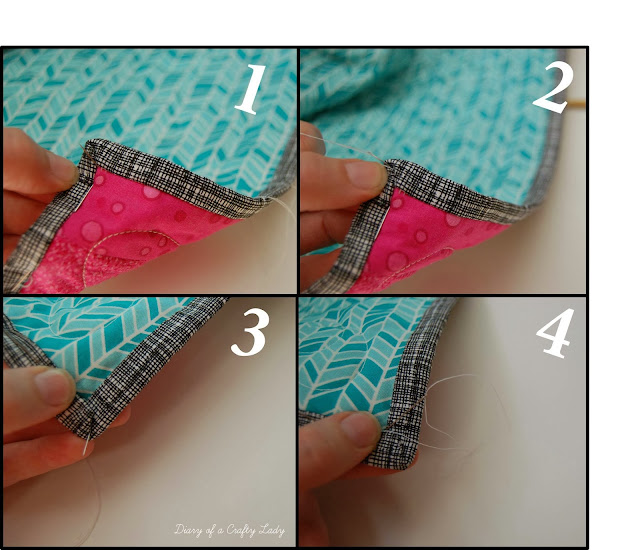 Diary Of A Crafty Lady: How To Bind A Quilt By Hand