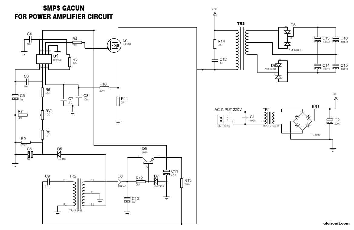 Smps Schematic 10a Opinions About Wiring Diagram 5v 50w Offline Switching Power Supply Circuit 70v For Amplifier Electronic Rh Elcircuit Com Ka7500b Isolated Dc