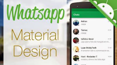 Memang aplikasi yang satu ini tak ada matinya Download WhatsApp Tampilan Material Design Terbaru
