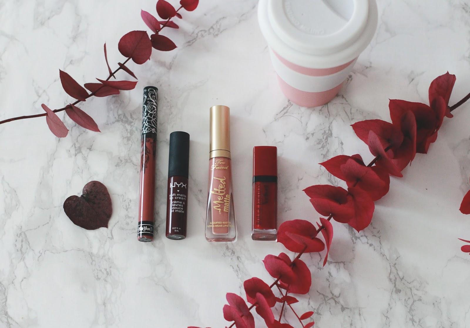 rouges à lèvres d'automne blog beauté