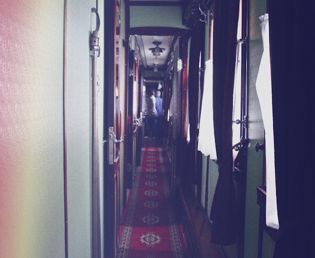 inside the old train of State Museum Of Stalin