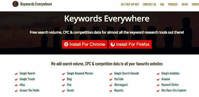 Keyword Everywhere homepage image