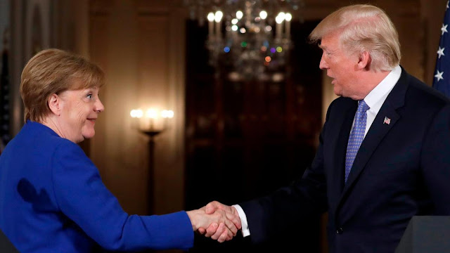 Angela Merkel and US President Donald Trump