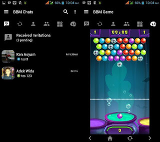 Update BBM Modifikasi Terbaru Black Thema Full 3.1.0.13 with Bubble Shooter Game