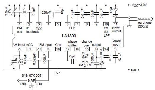 Use LA1800 Portable AM and FM Radio Supreem Circuits Diagram and