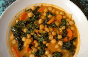Moroccan Chickpea and Kale Stew