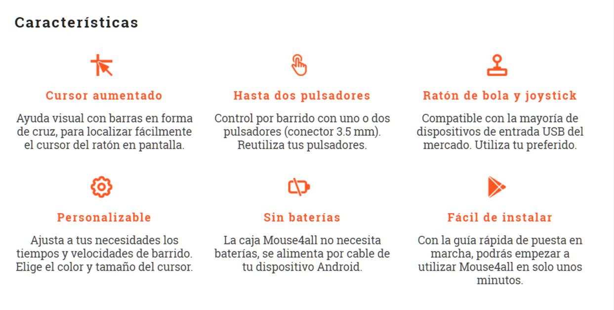 Características Mouse4all