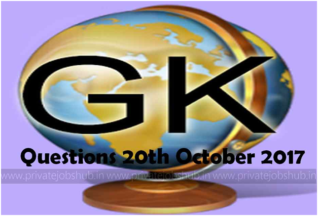 GK Questions 20th October 2017 PJH