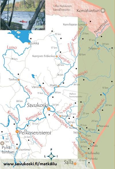 River Kayaking In Lapland River Kemi