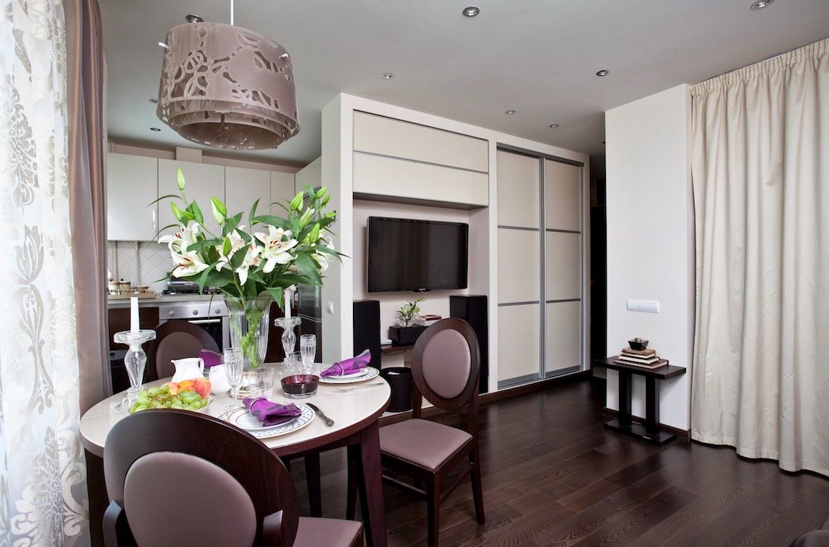 Дизайн однокомнатной квартиры: Интерьер квартиры-студии с ...