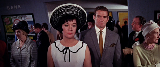 Betty McDowall and Rod Taylor in The Liquidator (1965)