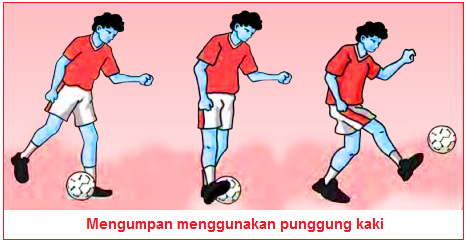 Mengumpan menggunakan punggung kaki