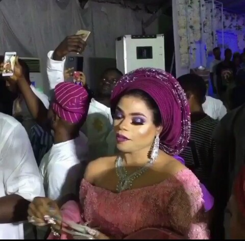 Bobrisky Wears Female Aso Ebi To Abimbola Ogunnowo & Okiki Afolayan's Wedding