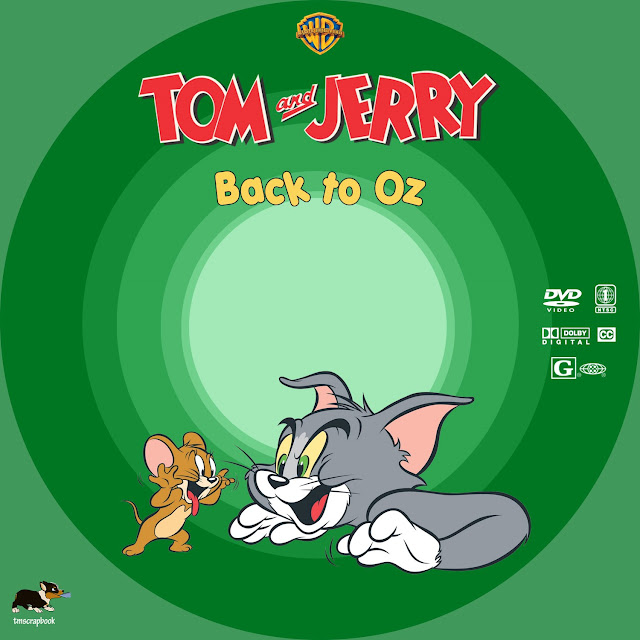 Tom and Jerry: Back to Oz DVD Label