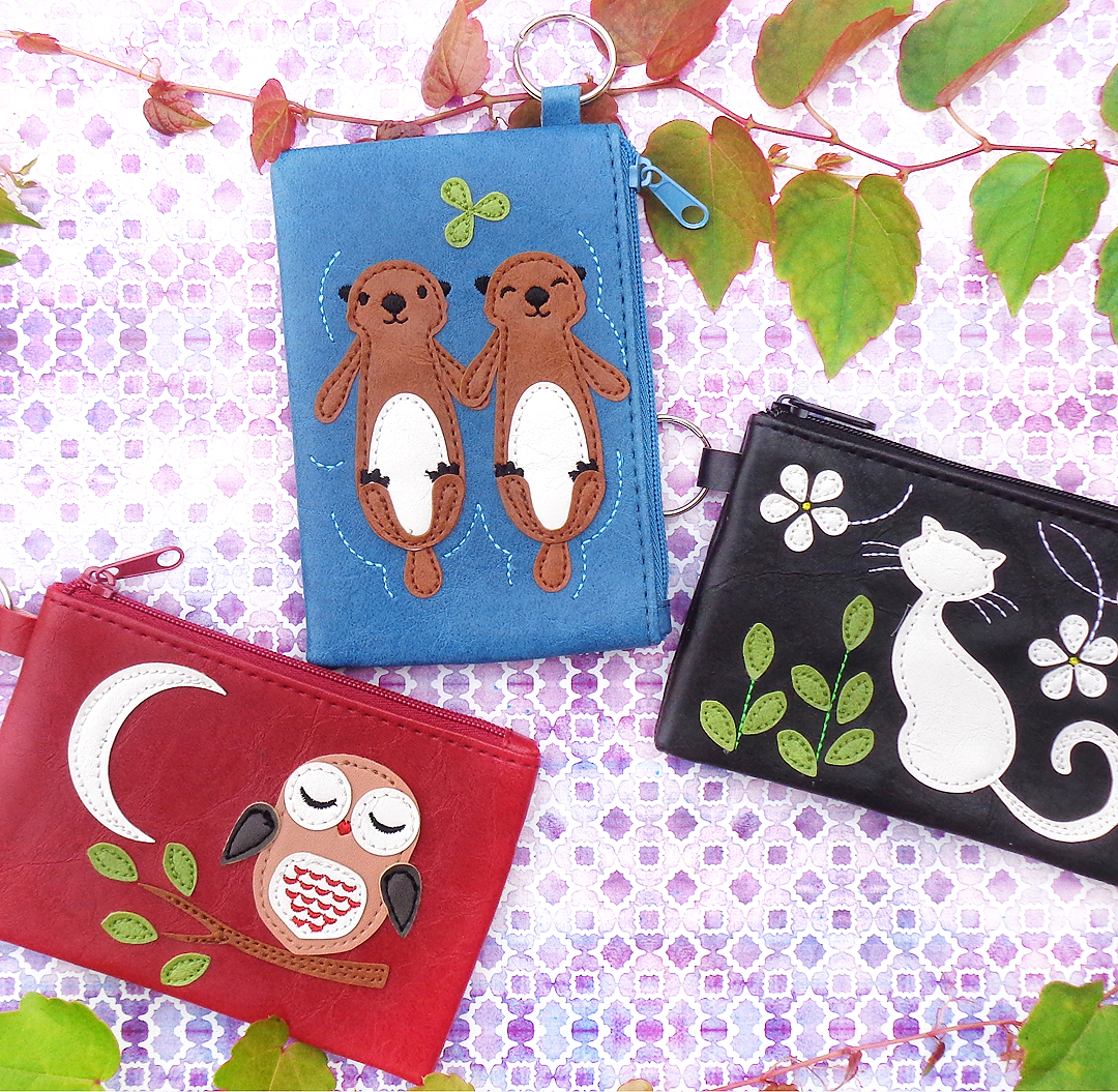 Adora new vegan leather key ring coin purses for spring 2018 at www.lavishy.ca