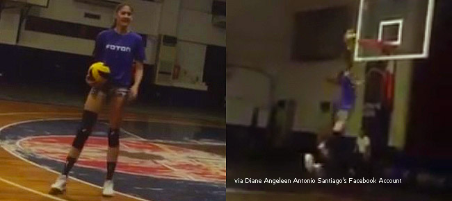 Volleyball star Jaja Santiago Throws Down One-handed Dunk (VIDEO)