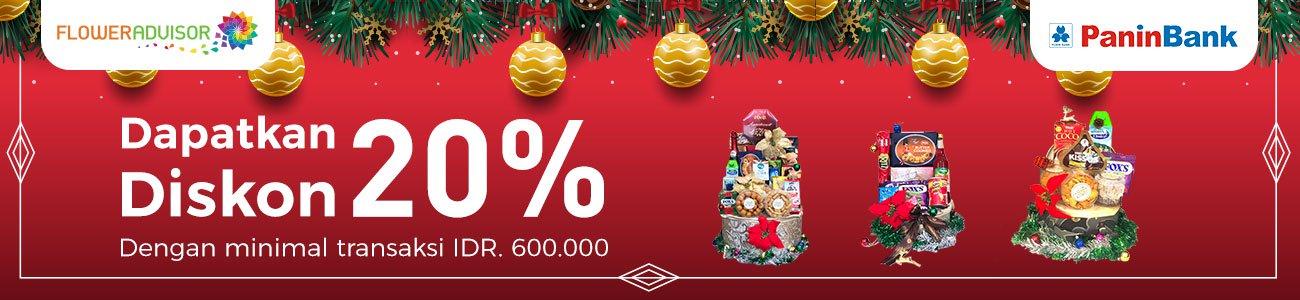 #BankPanin - Promo Diskon 20% Min Belanja 600K di FlowerAdvisor (s.d 31 Des 2018)