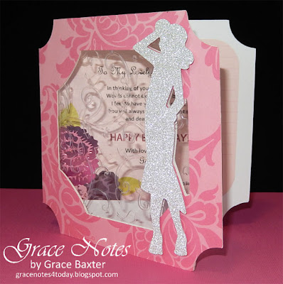 window bday card with sparkle and shine, front