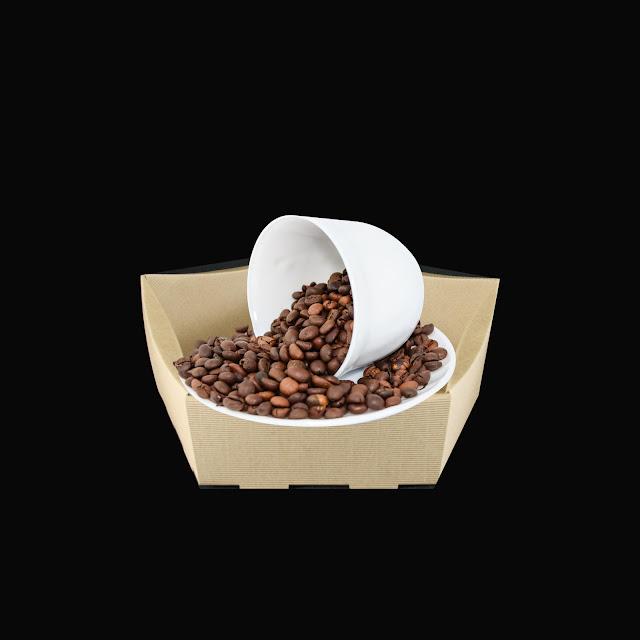 koszyk z kawą