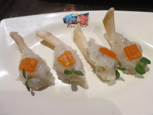 Sea Asparagus Prawn Paste with Salted Egg Yolk