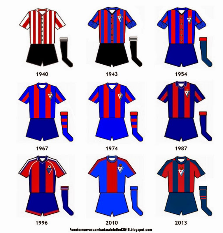 Nueva camiseta del Eibar 2014 2015(primera+segunda+Portero Equipación) 0be7def79a5