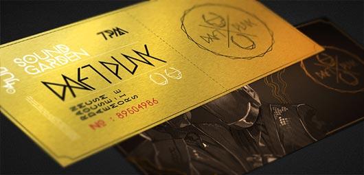 45 Attractive Ticket Designs - Jayce-o-Yesta