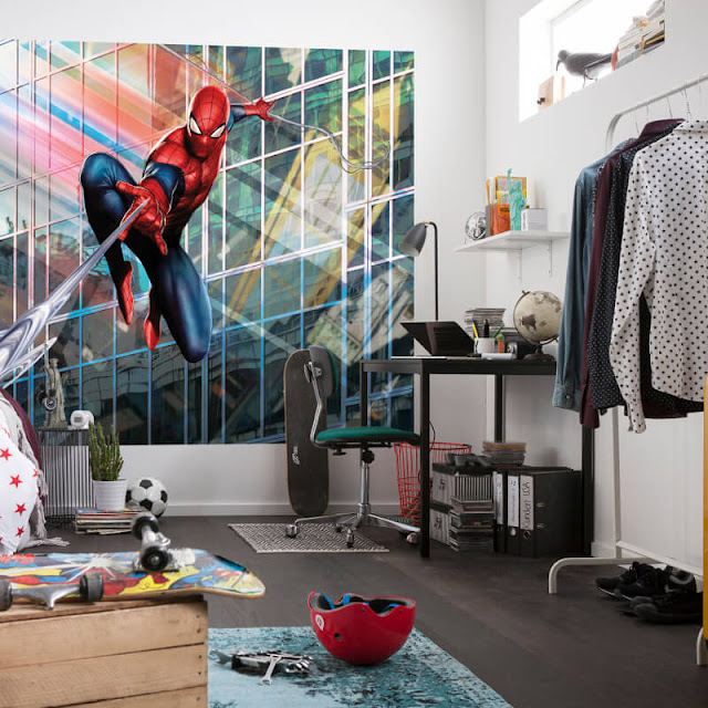 Spiderman Wall Mural Kids Bedroom