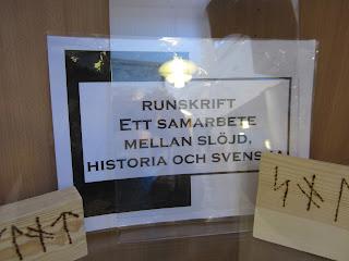 utställning på Hagaskolans bibliotek